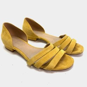 MADEWELL Mustard Yellow Suede Shoes Sandals sz 6
